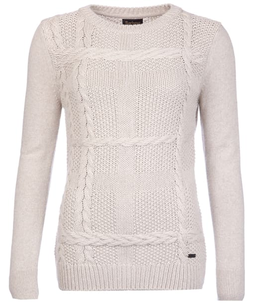 Women's Barbour Etal Crew Neck Jumper - Pearl