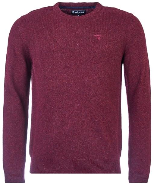 Men's Barbour Tisbury Crew Neck Sweater - Ruby