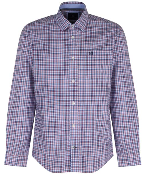 Men's Crew Clothing Aldenham Check Shirt - Washed Cherry