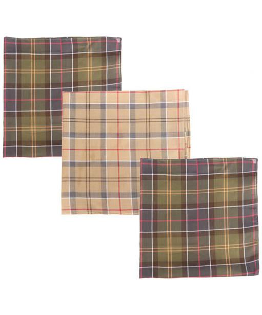 Men's Barbour Classic Tartan Handkerchief - Boxed Set of 3 - Classic Tartan