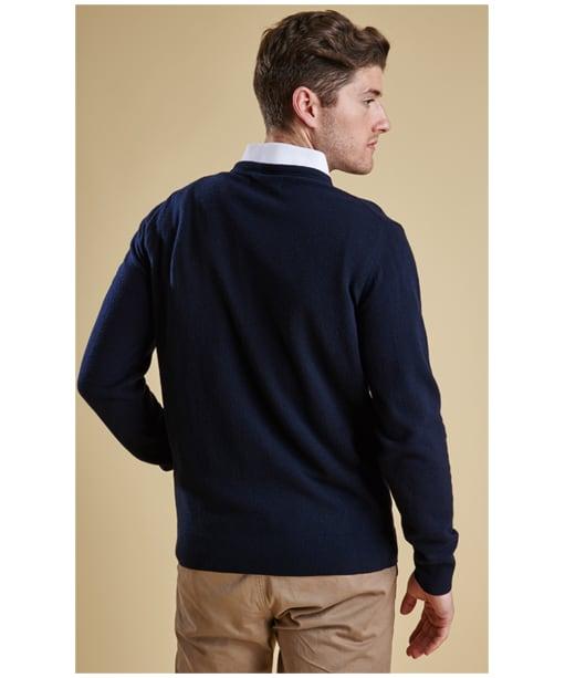 Men's Barbour Essential Lambswool Crew Neck Sweater - Navy