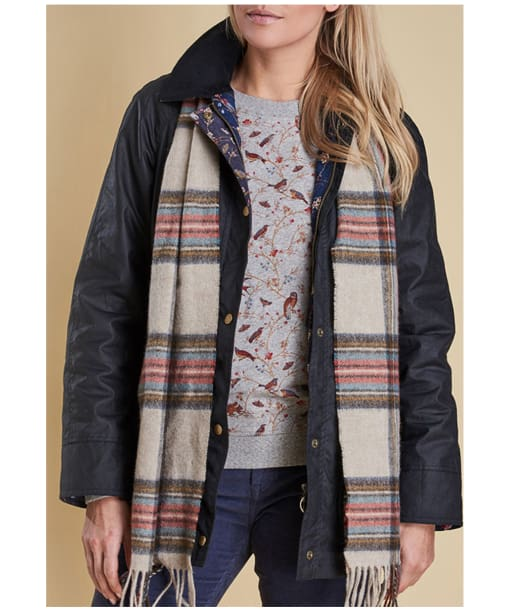 Women's Barbour Country Check Scarf - Cream