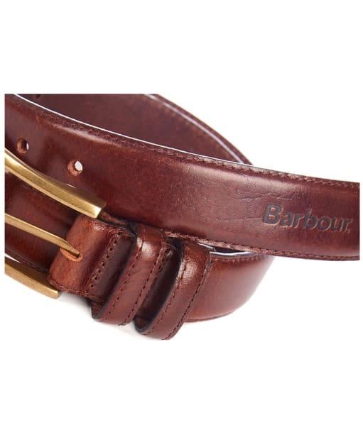 Men's Barbour Belt Giftbox - Dark Brown