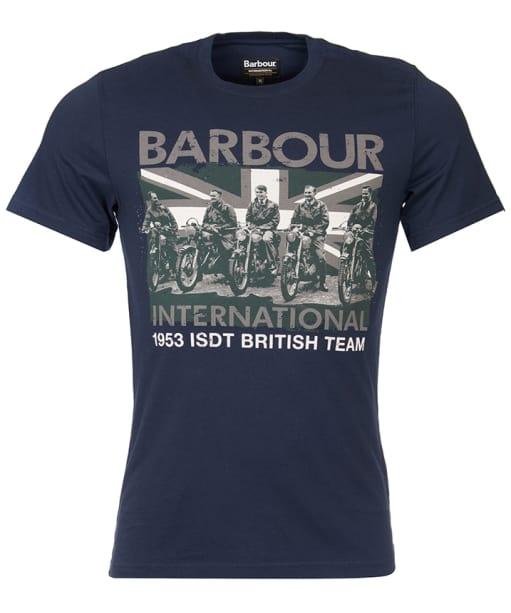 Men's Barbour International Team Tee - Navy