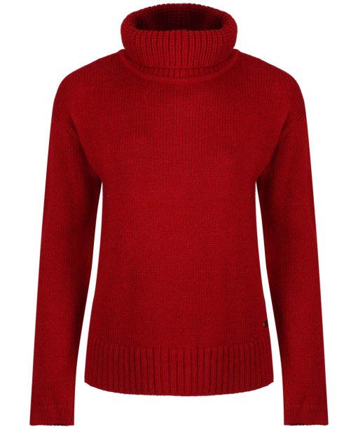 Women's Barbour International Endo Knit - Deep Red