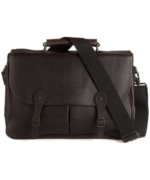Barbour Leather Briefcase - Chocolate