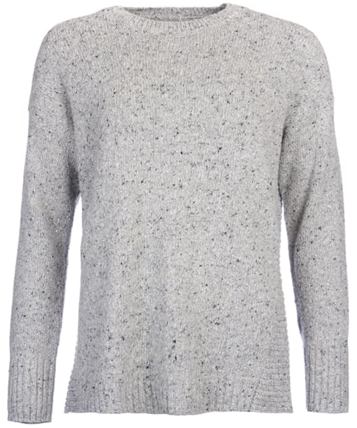 Women's Barbour Cloudly Neck Sweater - Light Grey Marl