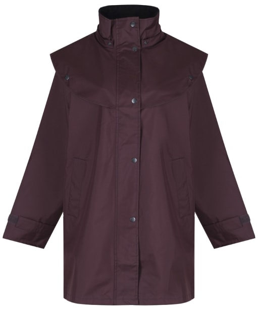 Jack Murphy Cotswold Waterproof Cape Coat - Deep Claret