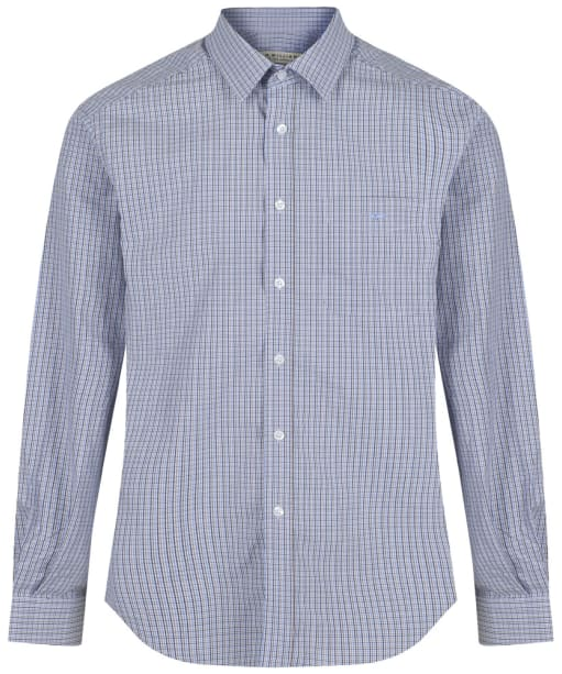Men's R.M. Williams Check Collins Shirt - Blue | Brown | Navy