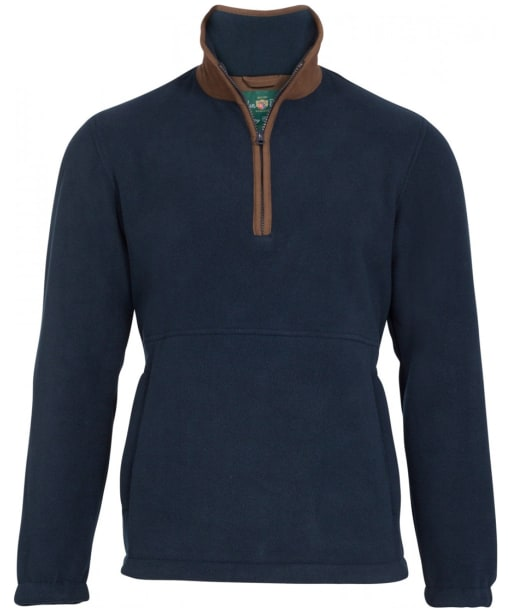 Men's Alan Paine Aylsham Quarter Zip Fleece - Dark Navy