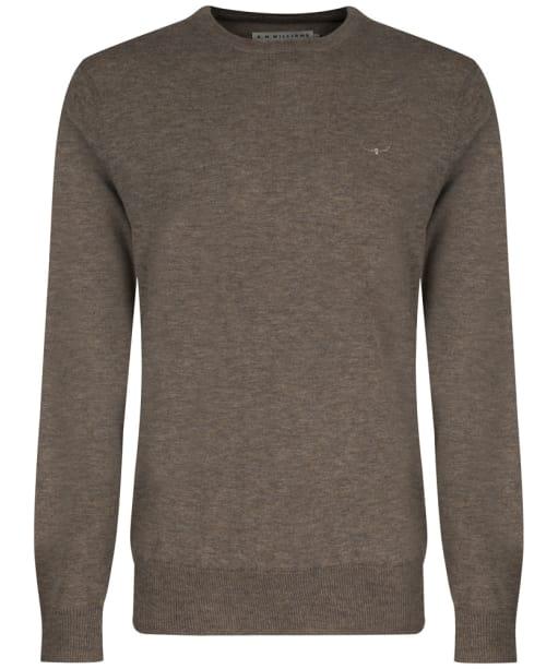 Men's R.M. Williams Howe Crew Neck Sweater - Taupe