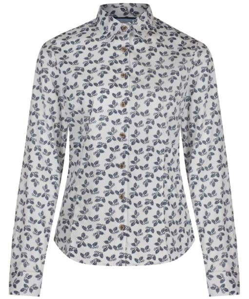 Women's Musto Country Printed Shirt - Navy Acorn