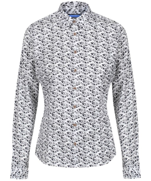 Women's Musto Country Printed Shirt - Navy Leaf