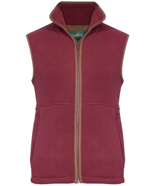 Children's Alan Paine Aylsham Fleece Waistcoat, 3-16yrs - Bordeaux