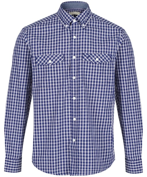 Men's R.M Williams Bourke Shirt - Navy | White | Red