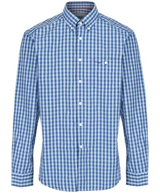 Men's R.M. Williams Collins Gingham Check Shirt - Blue | Aqua