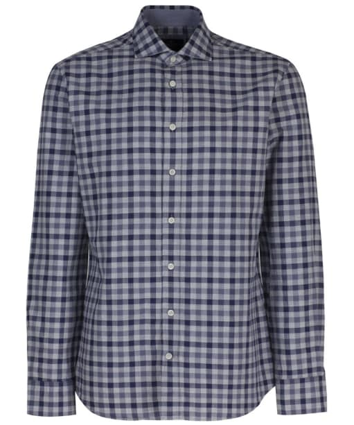 Men's Hackett Melange Gingham Check Shirt - Blue | Grey