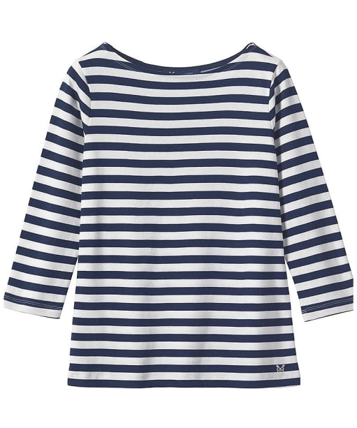 Women's Crew Clothing Ultimate Breton Top - Navy | White
