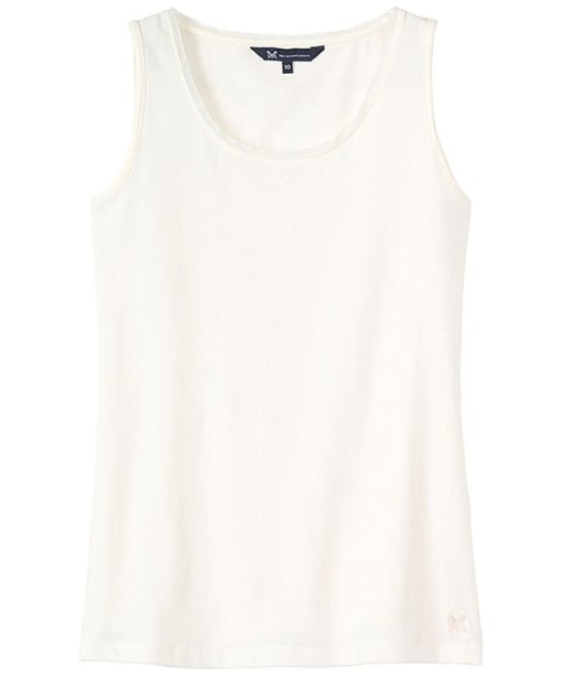 Women's Crew Clothing Chiffon Trim Vest - White Linen