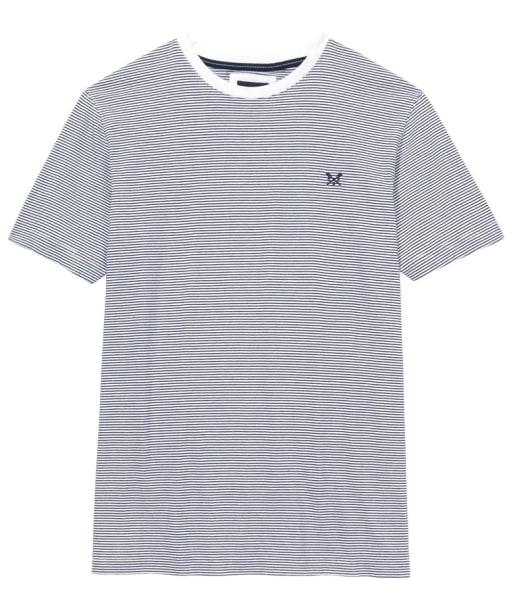 Men's Crew Clothing Fine Stripe Tee - White / Navy