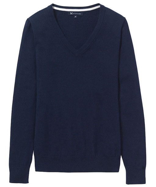 Women's Crew Clothing Foxy V-neck Sweater - Navy