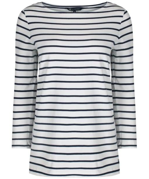 Women's Crew Clothing Essential Breton Top - White / Navy