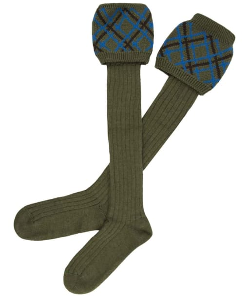 Men's Alan Paine Patterned Socks - Olive | Blue | Brown