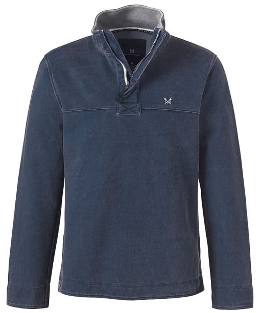 Men's Crew Clothing Padstow Pique Sweatshirt - Navy