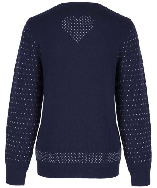 Women's GANT Reindeer Crew Neck Sweater - Evening Blue