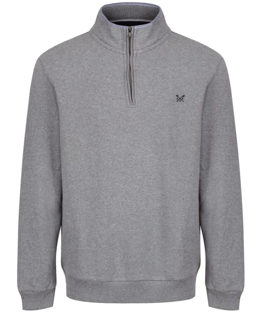 Men's Crew Clothing Classic Half Zip Sweater - Grey Marl