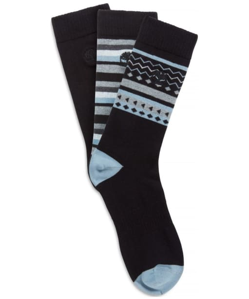 Men's Timberland Crew 3 Pack Socks - Black