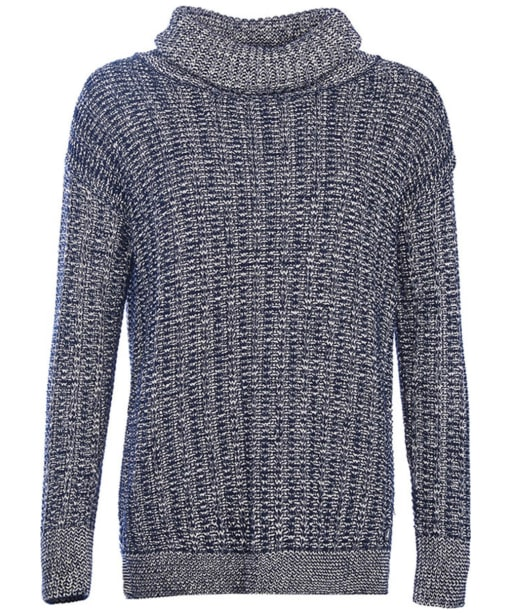 Women's Barbour Hermit Knit Sweater - Navy / Cloud