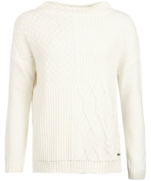 Women's Barbour Block Texture Knit Sweater - Cloud