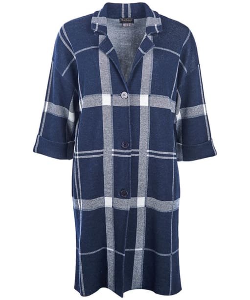 Women's Barbour Kelty Knitted Coat - Navy / Cloud