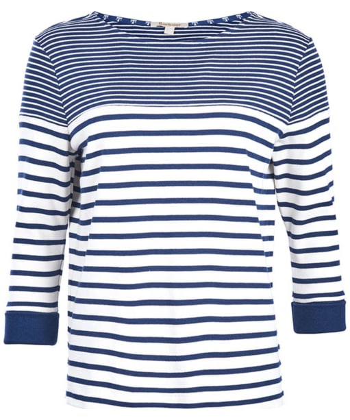 Women's Barbour Fins Sweatshirt - Cloud / Navy