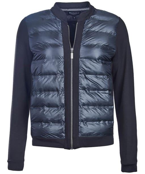 Women's Barbour International Breaker Sweater Jacket - Black