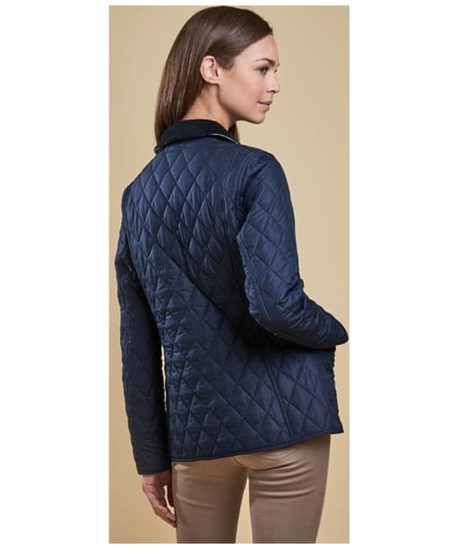 Women's Barbour Spring Annandale Quilted Jacket - Navy / Summer
