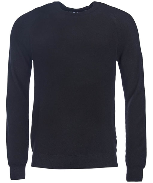 Men's Barbour International Steer Crew Neck Sweater - Black
