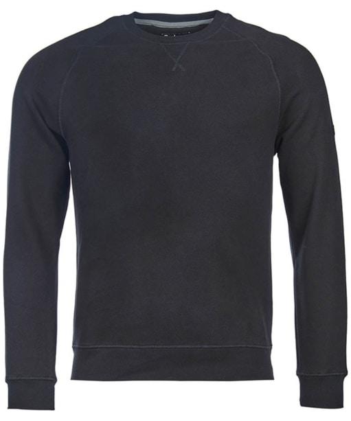 Men's Barbour International Clutch Crew Neck Sweater - Black