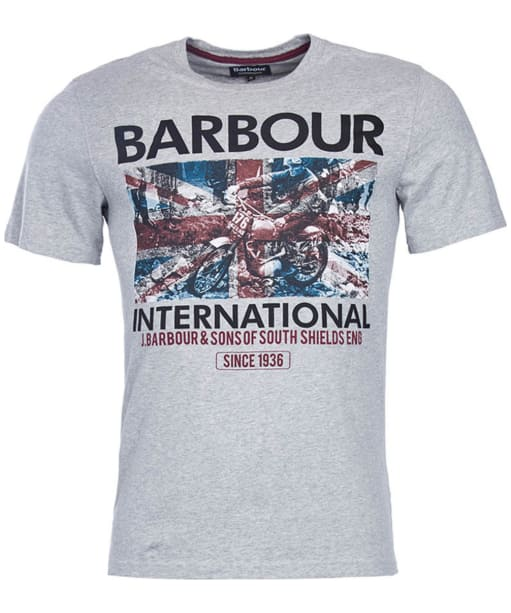 Men's Barbour International Hydro Tee - Grey Marl