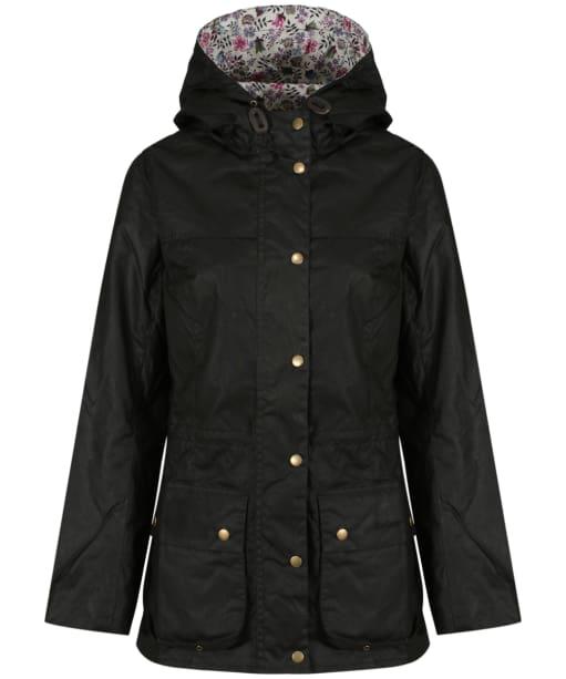 Barbour Liberty Edenham Lined Durham Waxed Jacket - Black