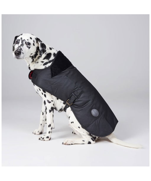 Barbour Waxed Cotton Dog Coat - Black