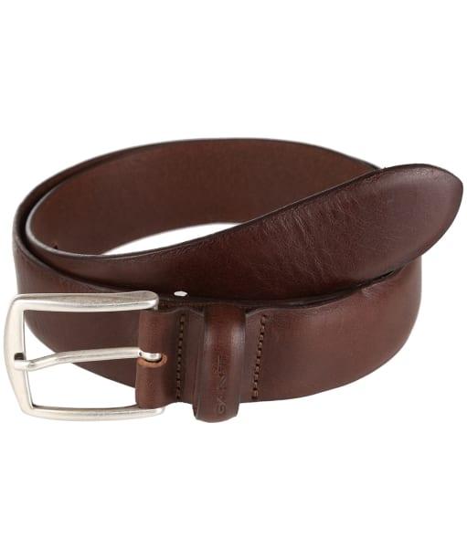 Men's GANT Leather Belt - Dark Brown