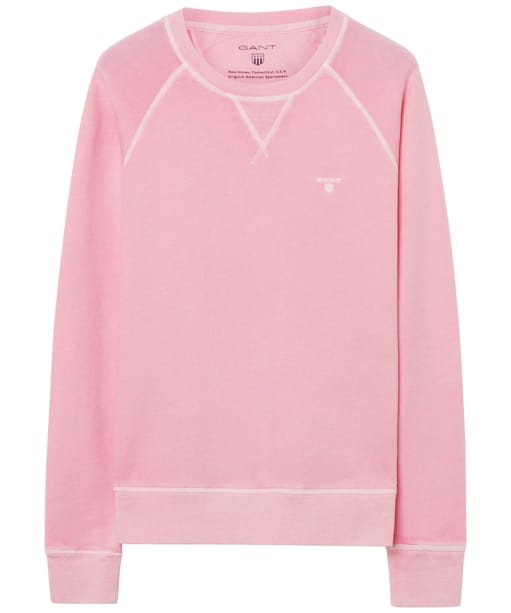 Women's GANT Sunbleached Crew Neck Sweatshirt - California Pink