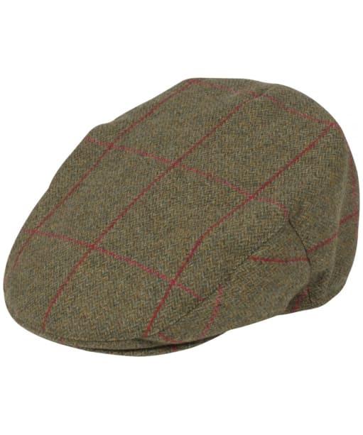 Men's Alan Paine Combrook Tweed Flat Cap - Sage