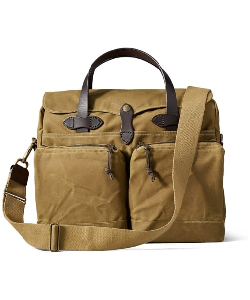 Men's Filson 24 Hour Tin Briefcase - Dark Tan