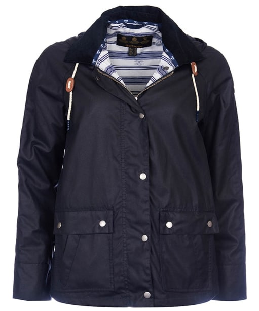Women's Barbour Rief Wax Jacket - Navy