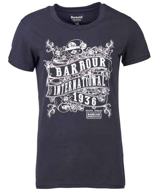 Women's Barbour International Riser Tee - Black