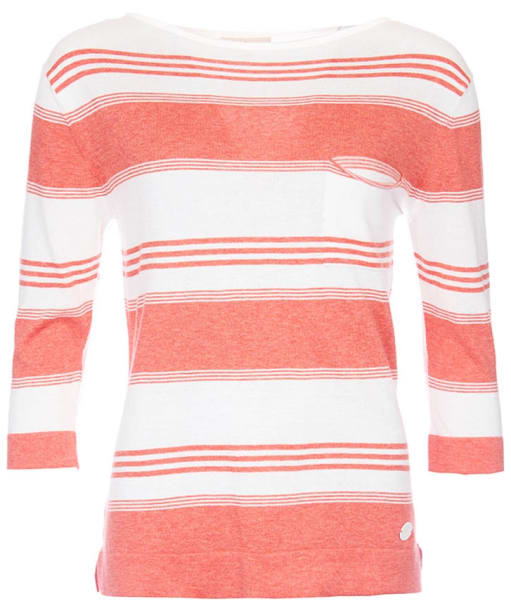 Women's Barbour Ebb Tide Knit Sweater - Coral / Cloud