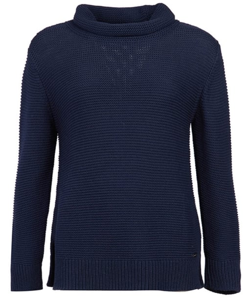 Women's Barbour Purl Stitch Knit Sweater - Navy